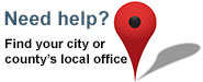 find your city or county's local office