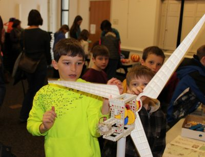 Kids explored wind turbines at the Maker Festival hosted by the Powhatan Public Library and Virginia Cooperative Extension.