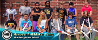 Hanover 4-H makers show off their projects.