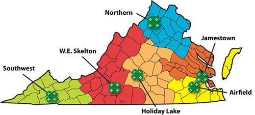 4-H Centers Map