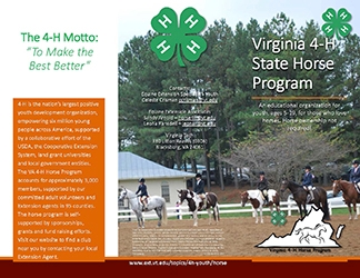 Learn About the 4-H Horse Program (PDF)