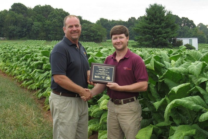Robert Mills Jr. (left), 2017 Virginia Farmer of the Year